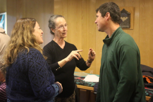 Discussion at a workshop